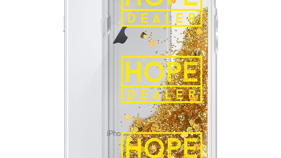 Hope Dealer Liquid Glitter iPhone Case