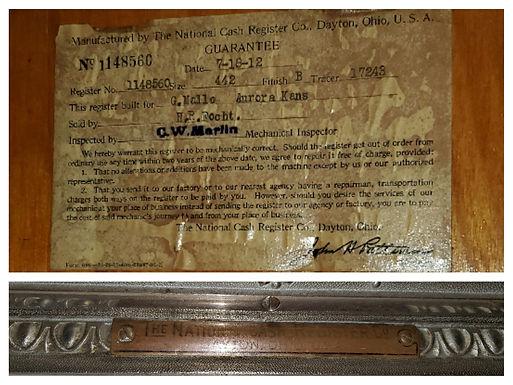 9 Drawer National Cash Register - Floor Cabinet Model 442