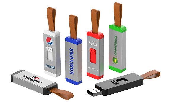 USB Aluminio con cuero
