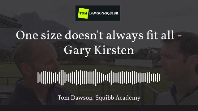 A key principle of Leadership with Gary Kirsten