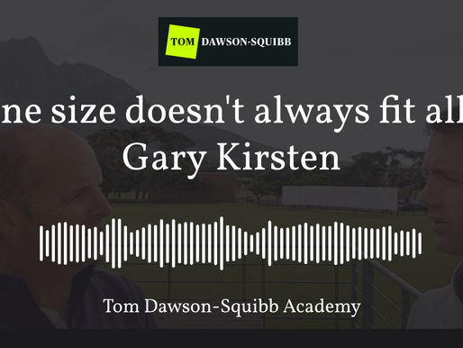A key principle of Leadership with Gary Kirsten