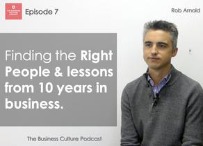 Business Culture Podcast - Episode 7 - Recruiting Millenials & RCA turns 10