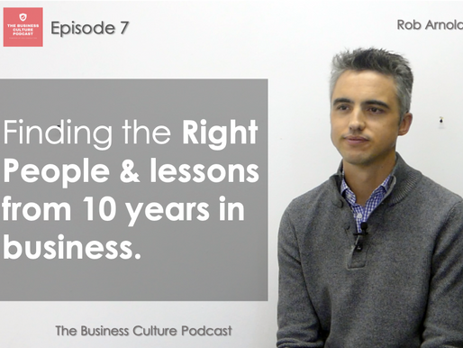 Business Culture Podcast - Episode 7 - Recruiting Millenials & RCA turns 10