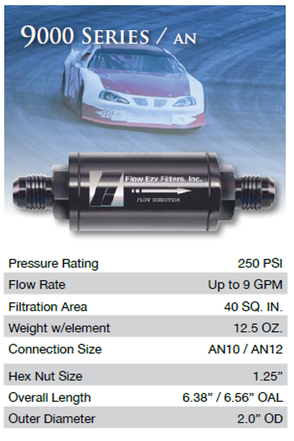 9000 Series Flow Ezy Motorsports Fuel Filter -10AN
