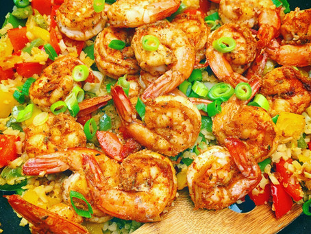 Cajun Shrimp and Cauliflower Skillet