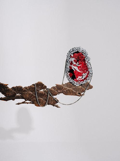 手工刺繡鳥包 Embroidery bird bag