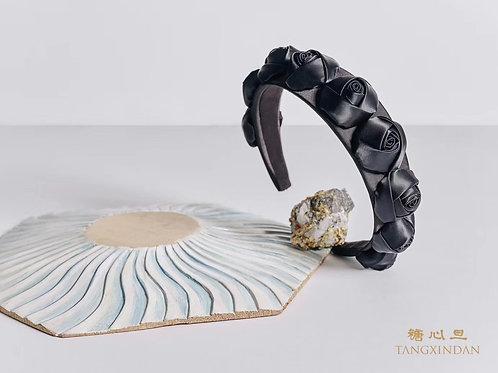 黑色玫瑰頭箍 Black Rose Headband