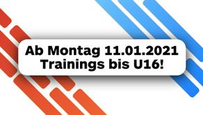 Trainings ab 11.01.2021