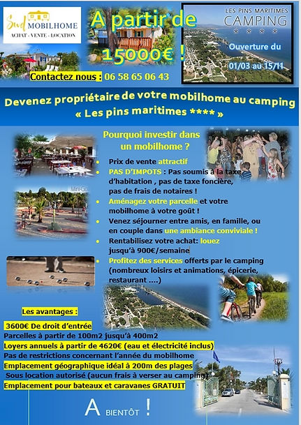camping les pins maritimes Hyeres Achat mobil home