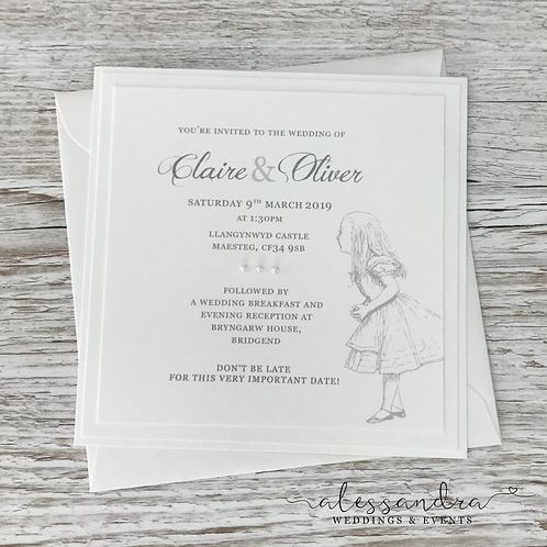 Subtle Alice in Wonderland Flat Invitation (Alice)