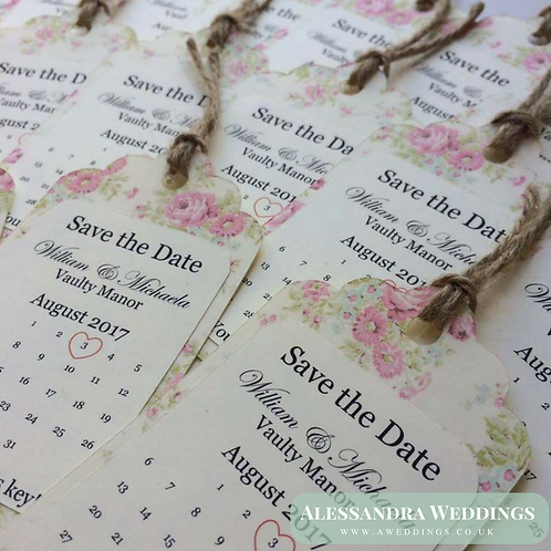Afternoon Tea Save the Date Tag