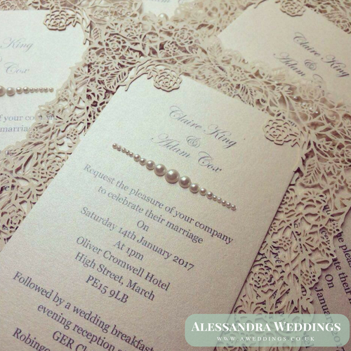 Handmade Wedding Invitations Alessandra Weddings Bridgend Wales Uk