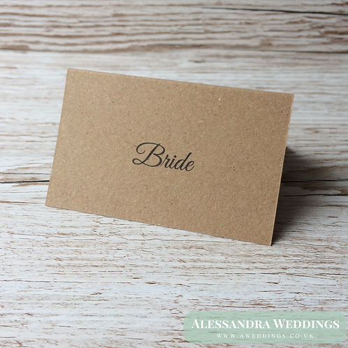 Plain Natural Brown Place cards