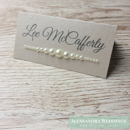 Lace and Pearls Place cards