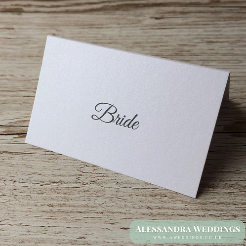 Plain Pearlescent Place cards