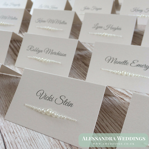 Vintage Pearl Place cards