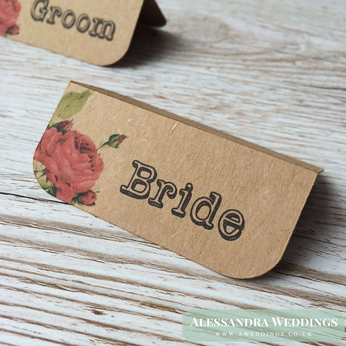Sarah-Jayne Natural Brown Place Cards