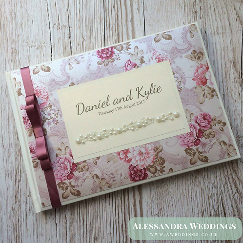 Pink Floral Guestbook