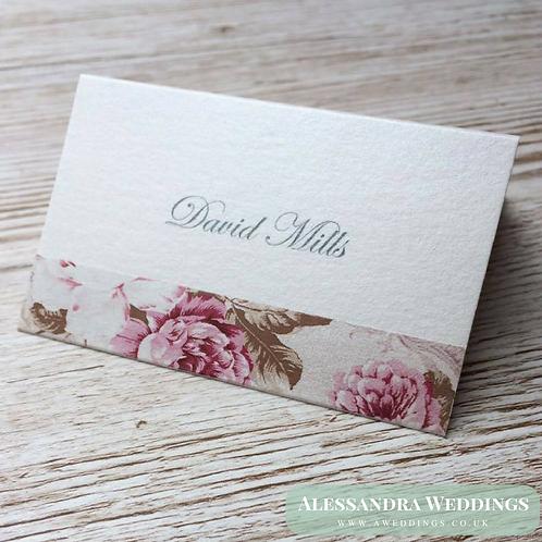 Blush Floral Place Cards