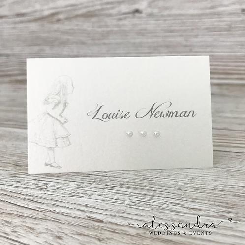 Subtle Alice in Wonderland Place card (alice)
