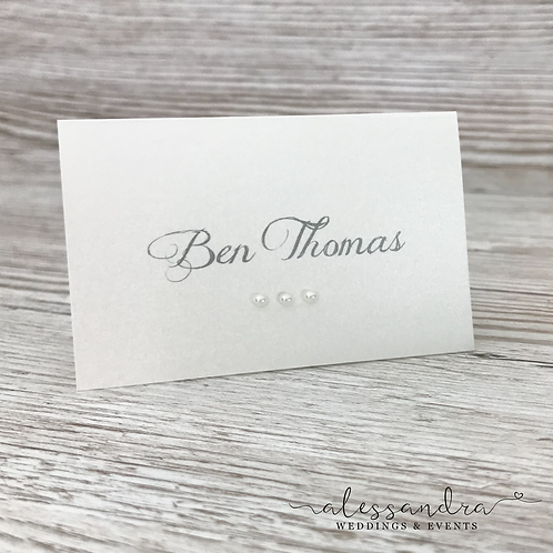 Subtle Alice in Wonderland Place card (no character)