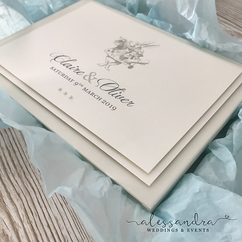 Subtle Alice in Wonderland Guestbook