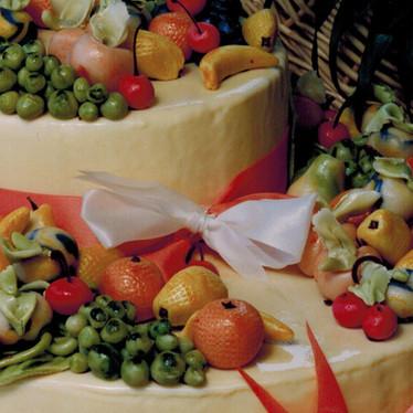 2-Tier Fruits Wedding Cake
