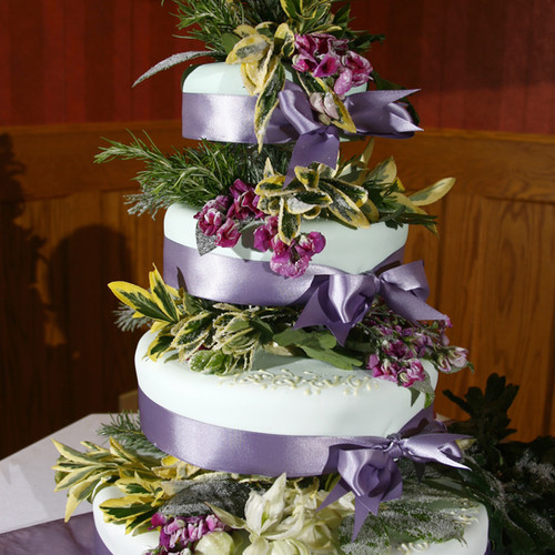 Herb Decoration Wedding Cake