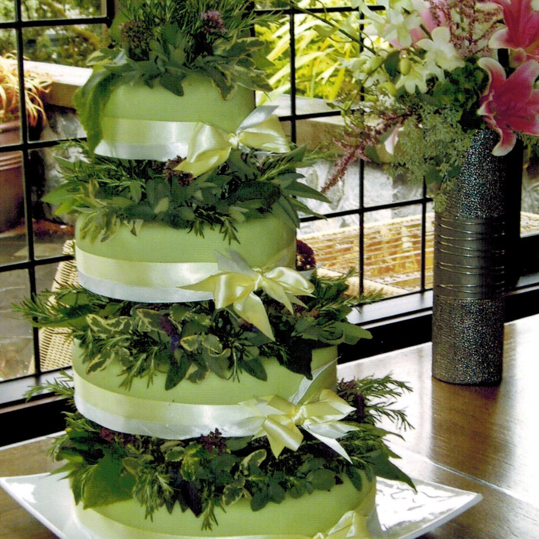 Herb Decoration Wedding Cake
