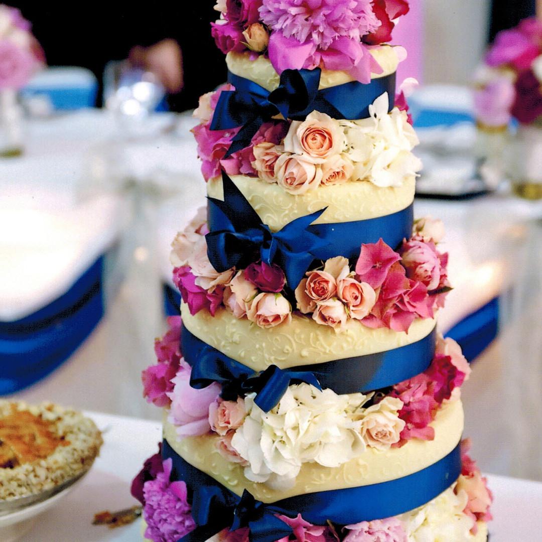 4-Tier Flowers Wedding Cake