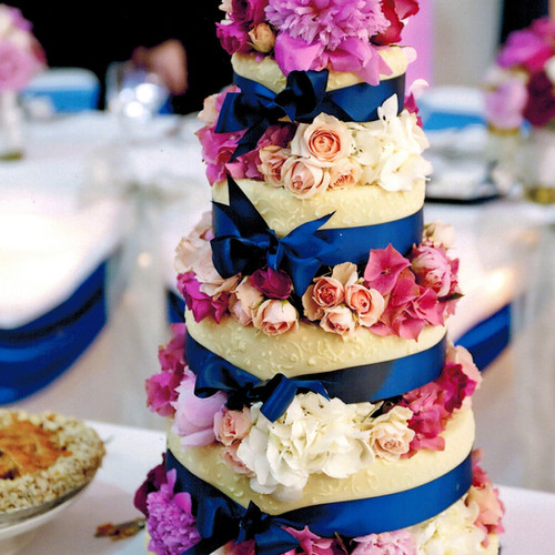 4-Tier Flowers Wedding Cake