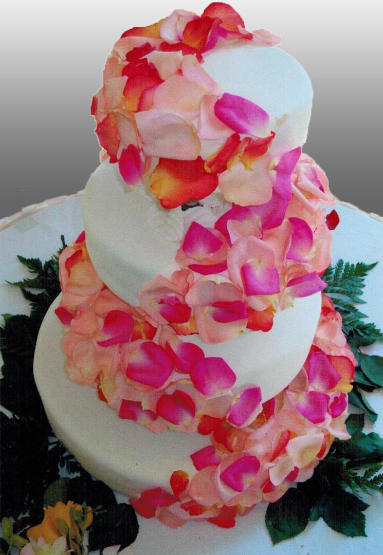 Floral Decoration Wedding Cake