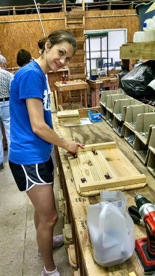 Elaine Building in a woodshop