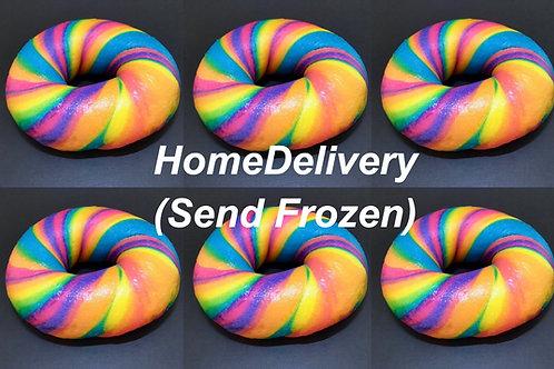 Dozen Rainbow bagels(Frozen) レインボーベーグル(冷凍)12個