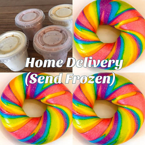 Dozen RainbowBagel with cream cheese
