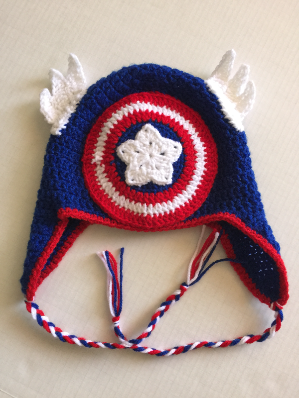 Crochet Captain America Beanie