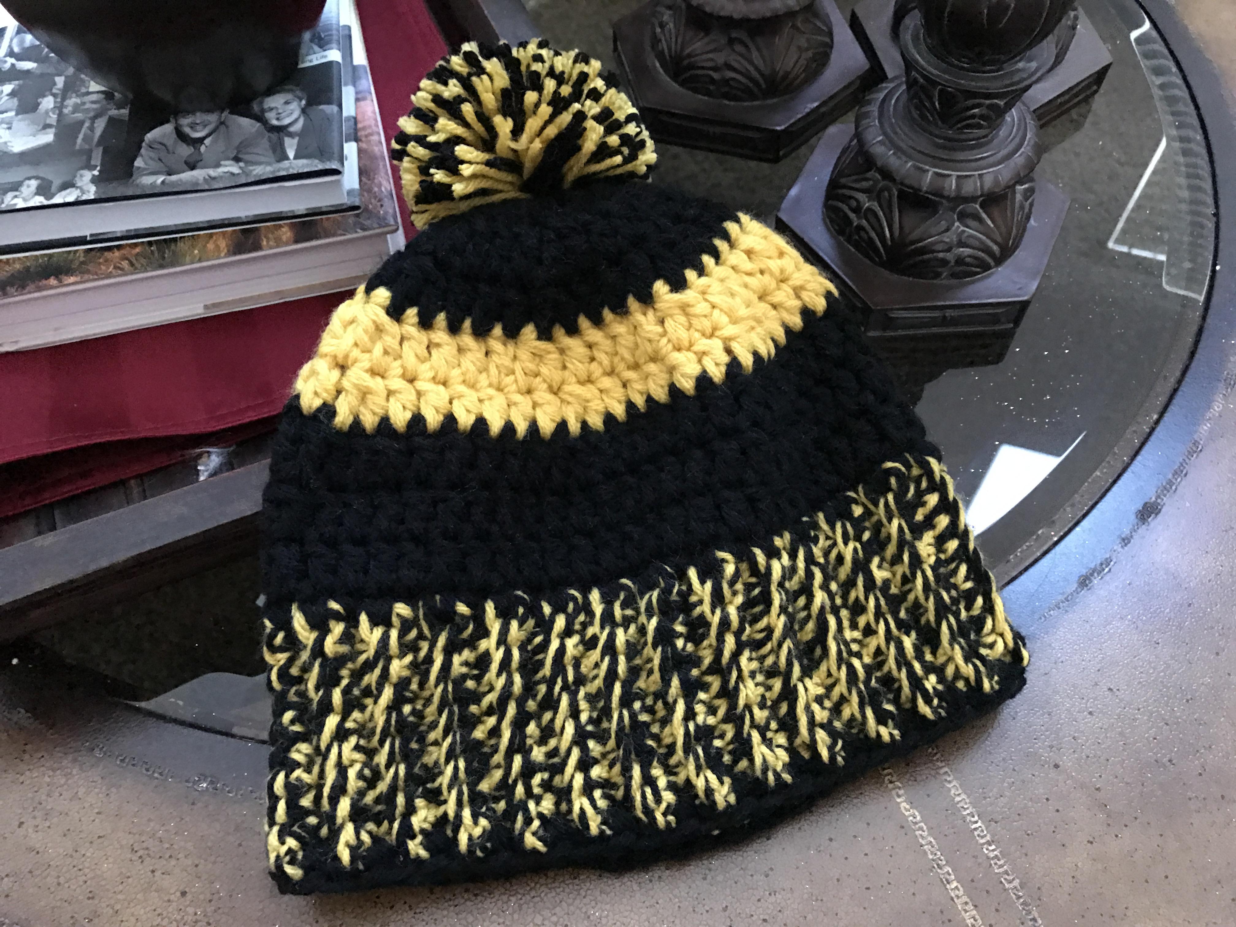 Steelers Inspired Winter Hat