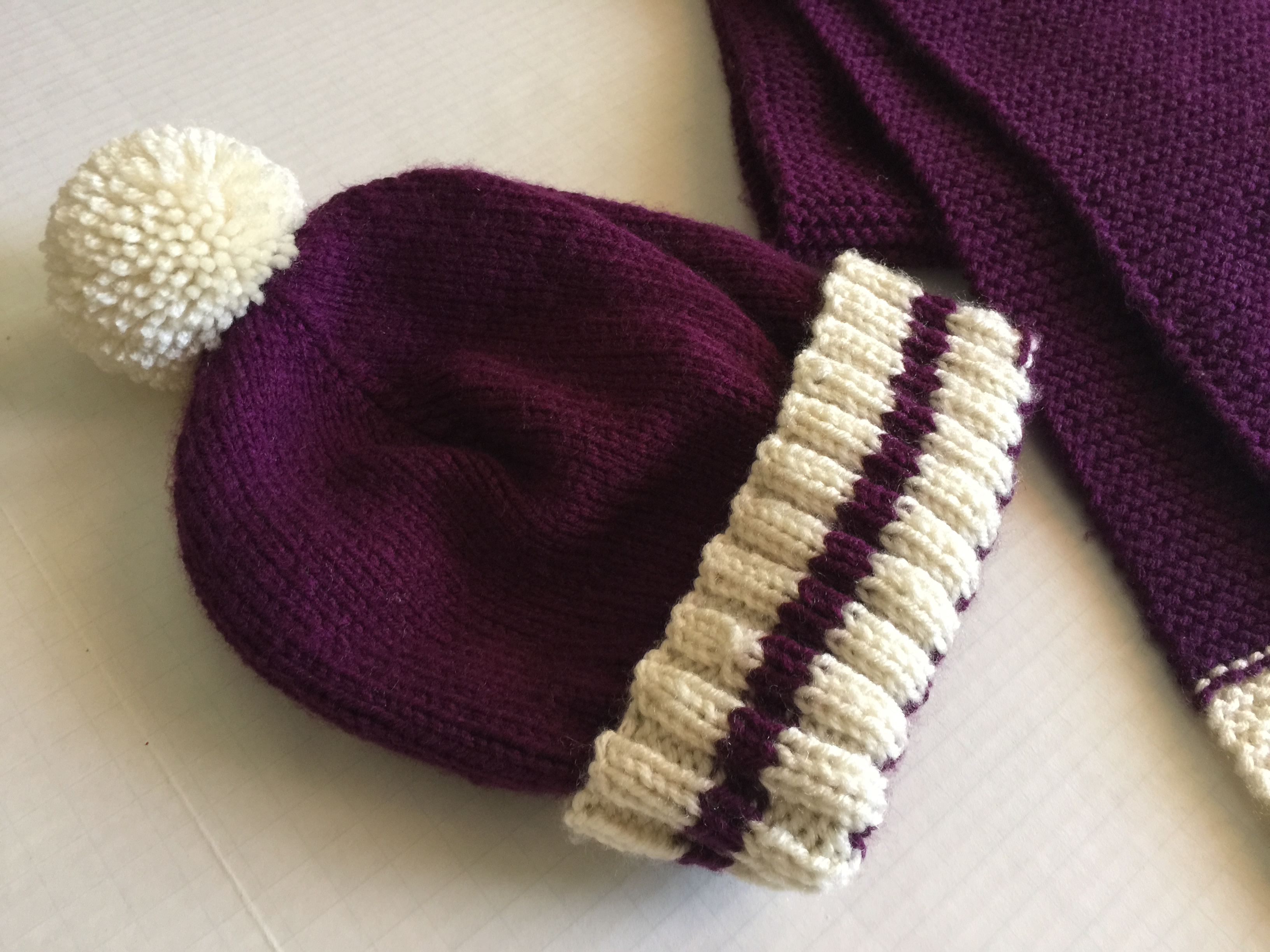 Knitted Hat & Scarf