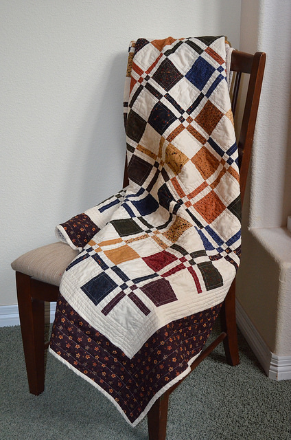 Lap Quilt - Disappearing 4 patch