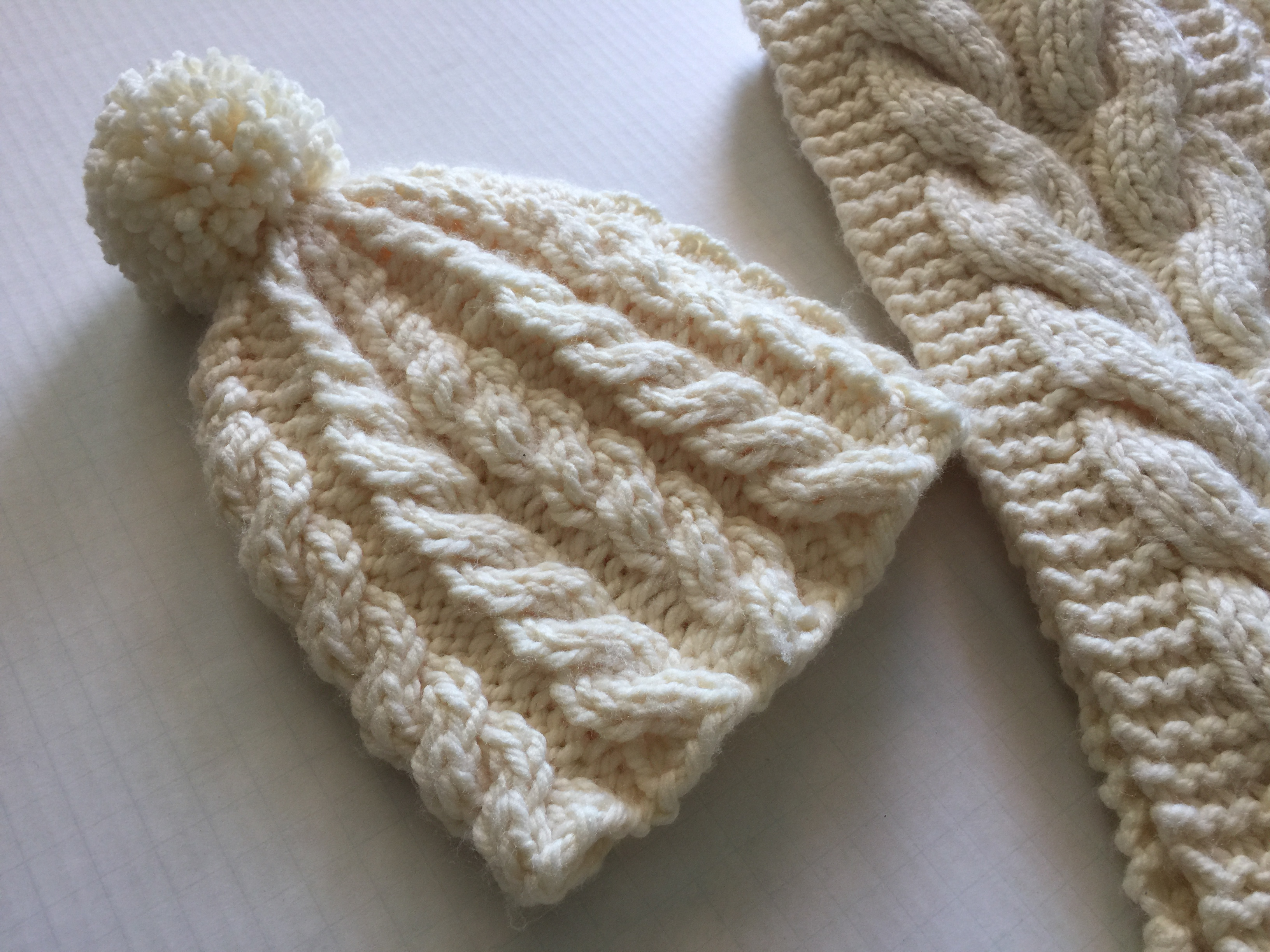 Knitted Cable Hat & Scarf
