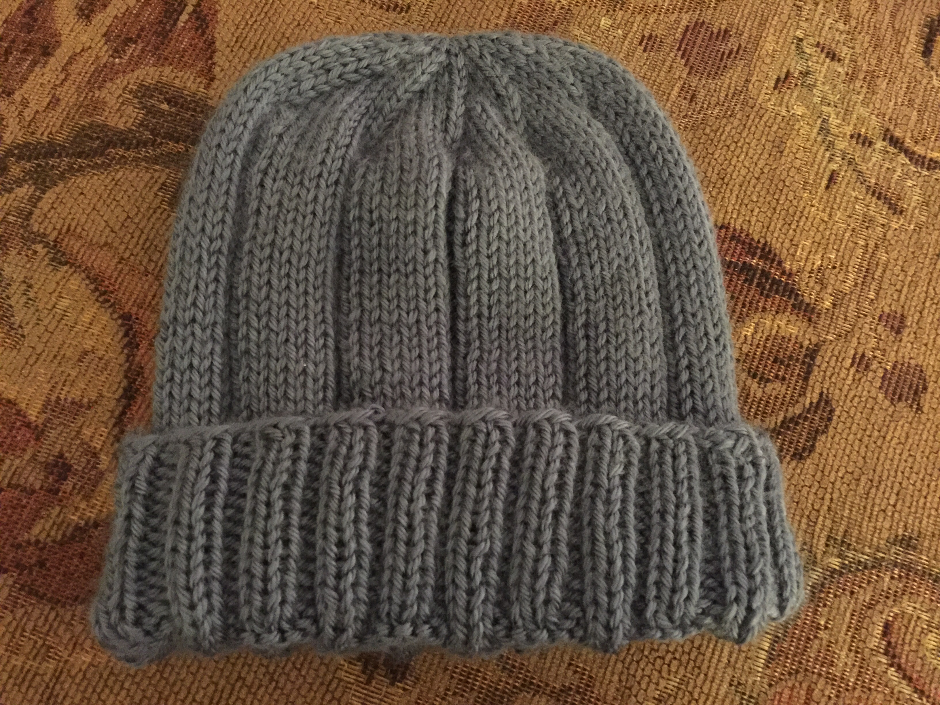 Knitted Ribbed Hat