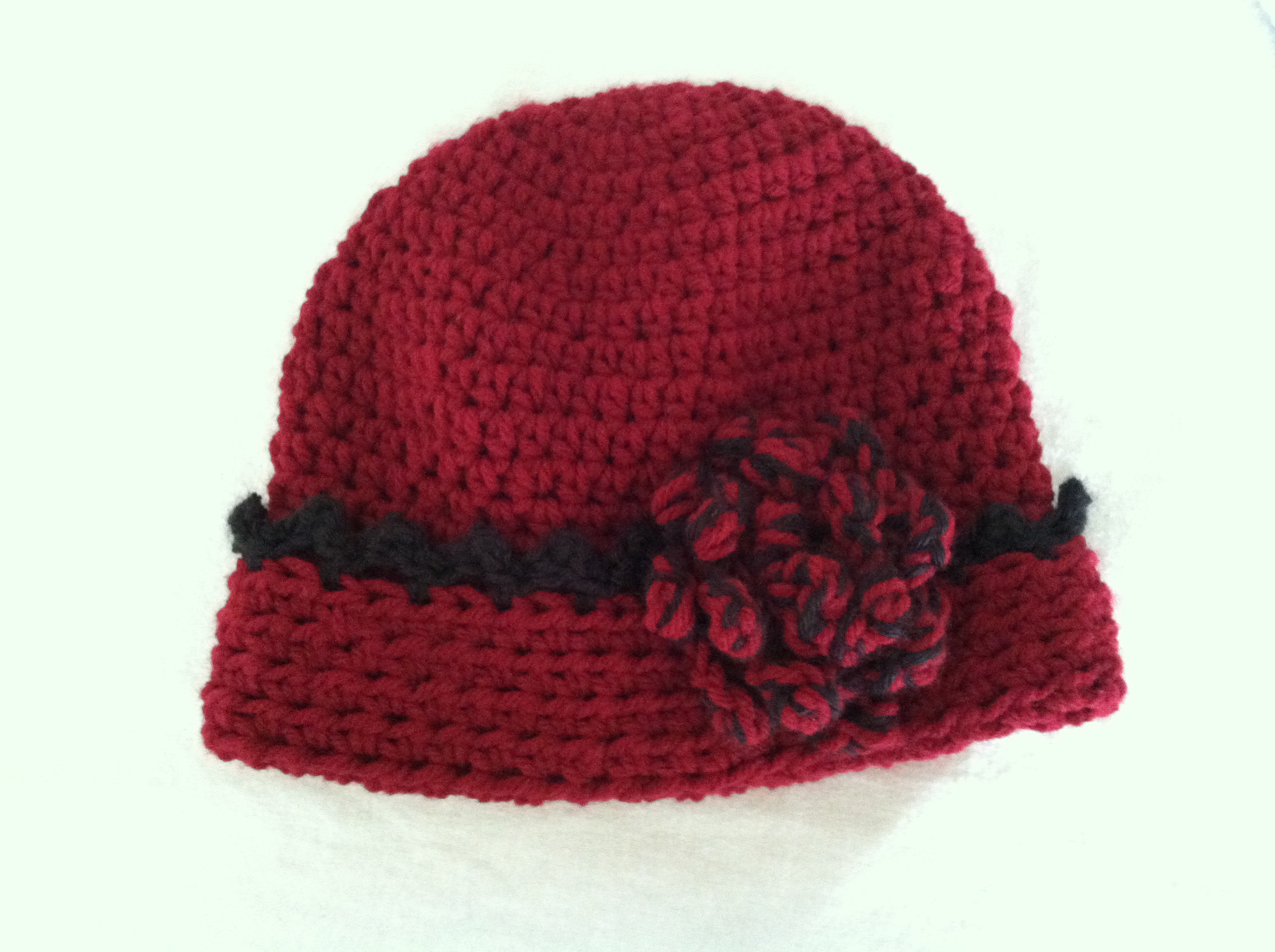 Red & Black hat with Cuff