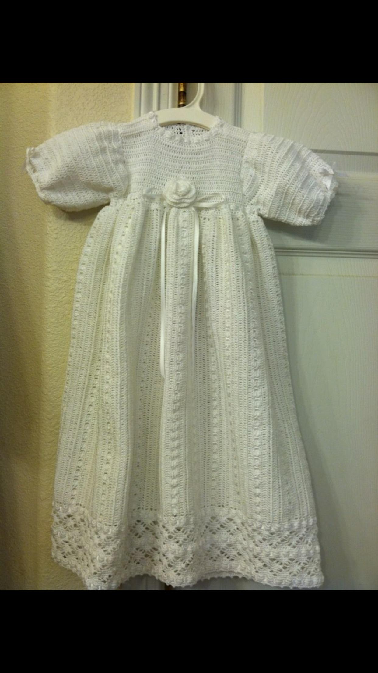 Crochet Baby Christening Gown