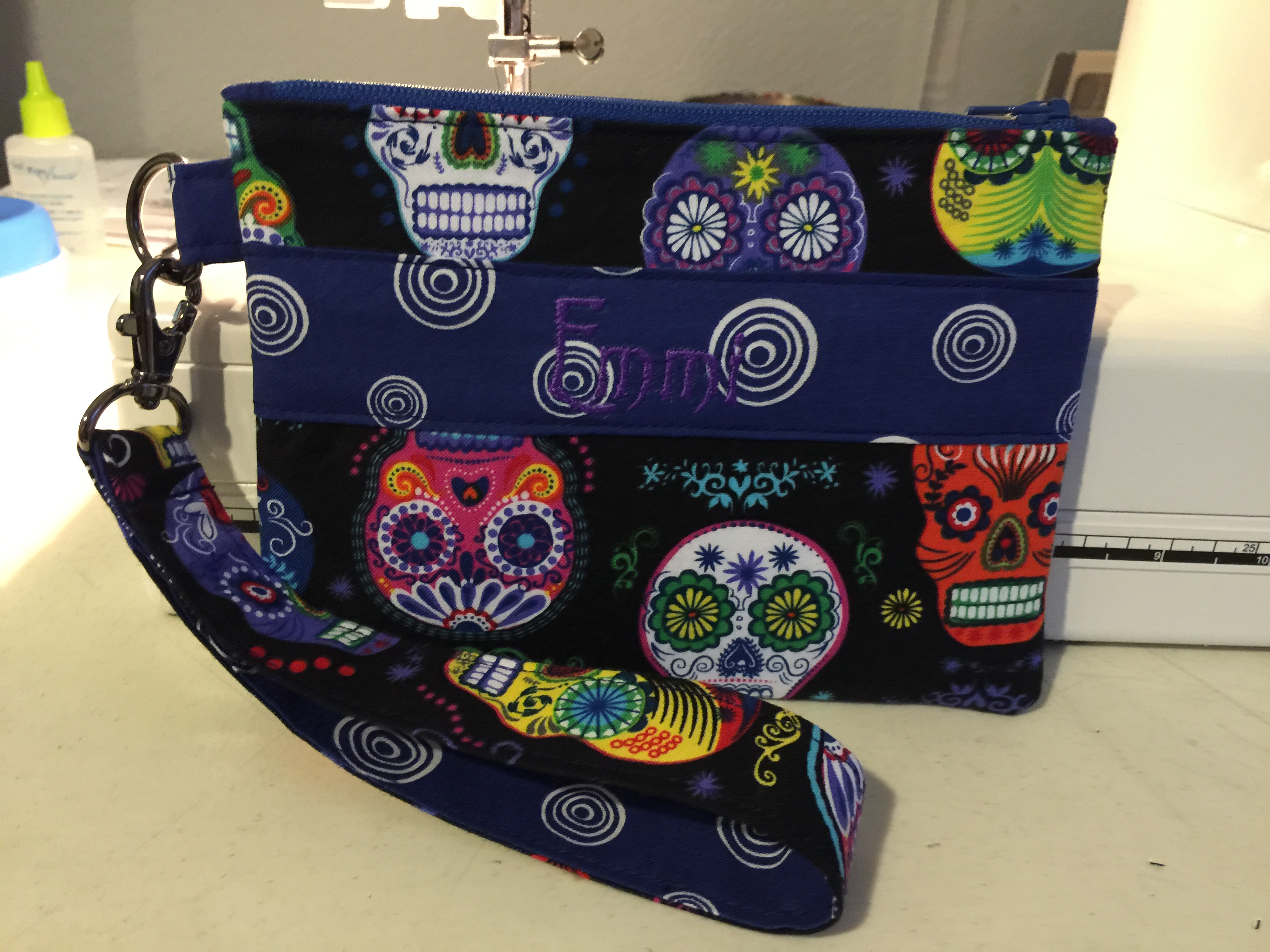 Day of the Dead Cell Phone Clutch