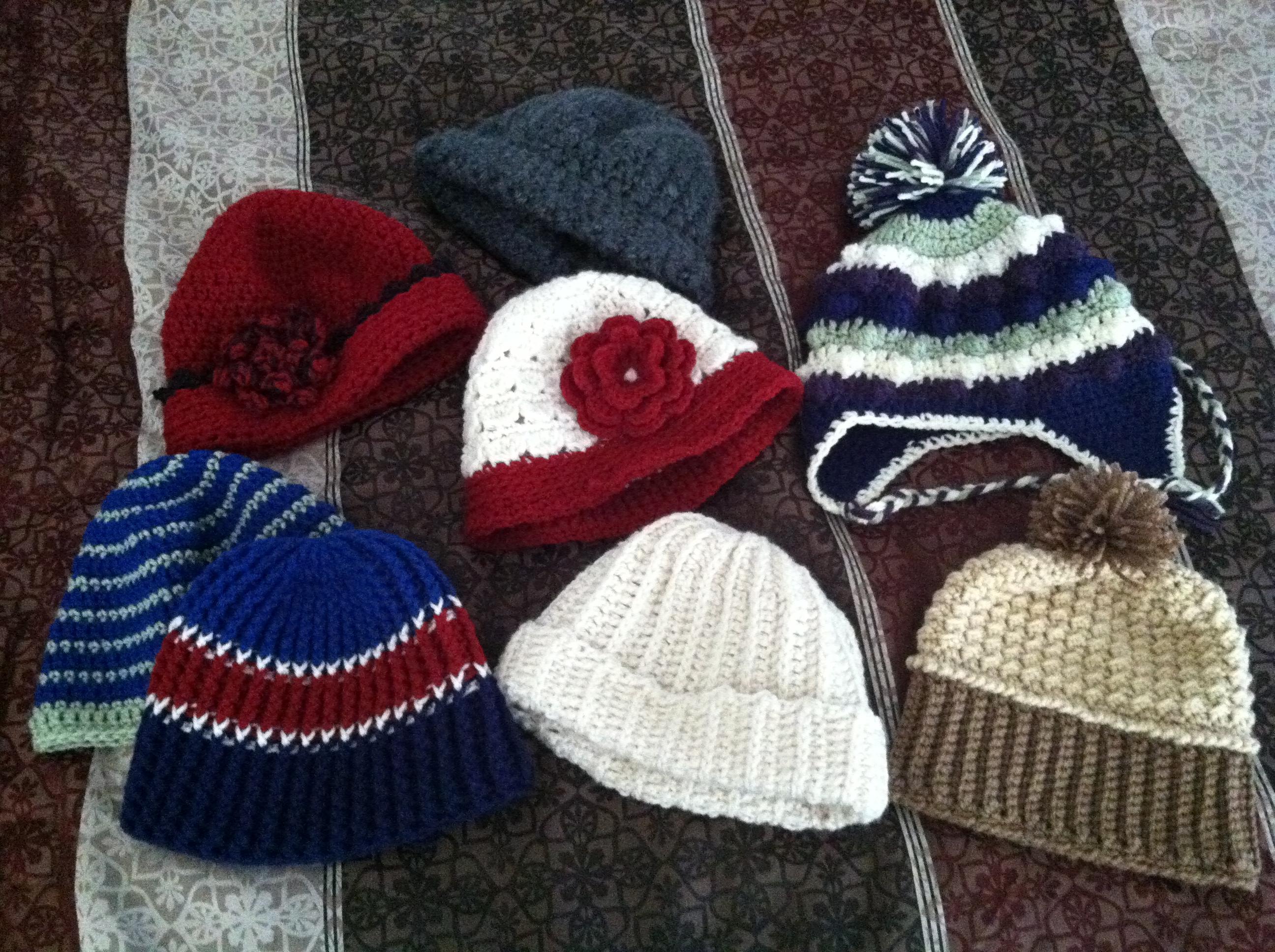 Multiple Winter Hats