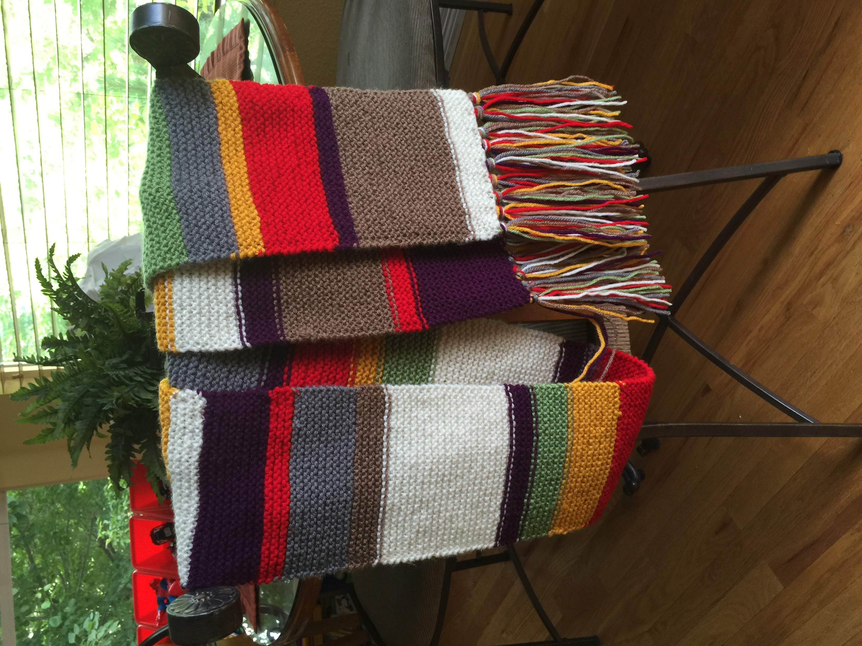Dr. Who Hand Knitted Scarf