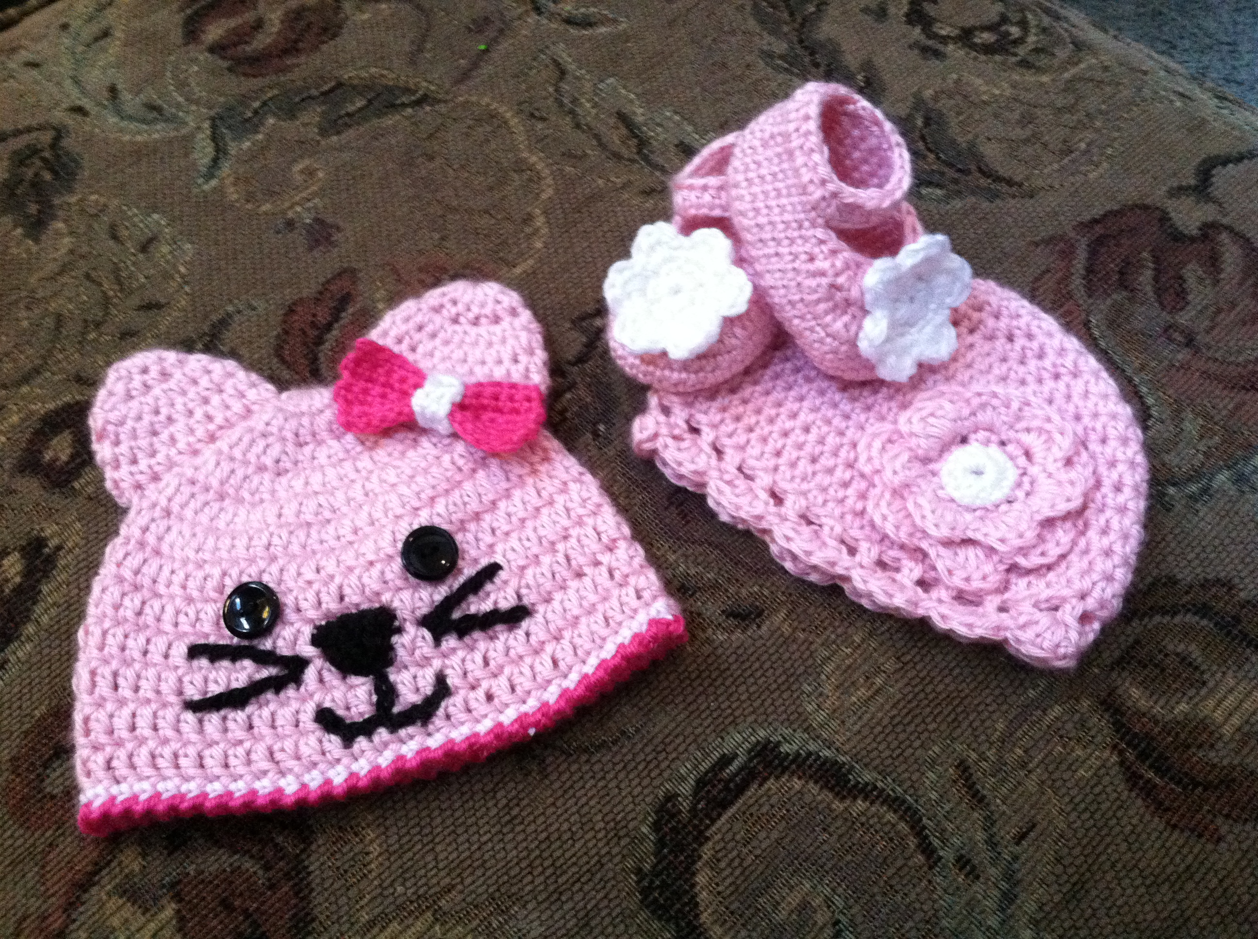 Girl Hats and Booties