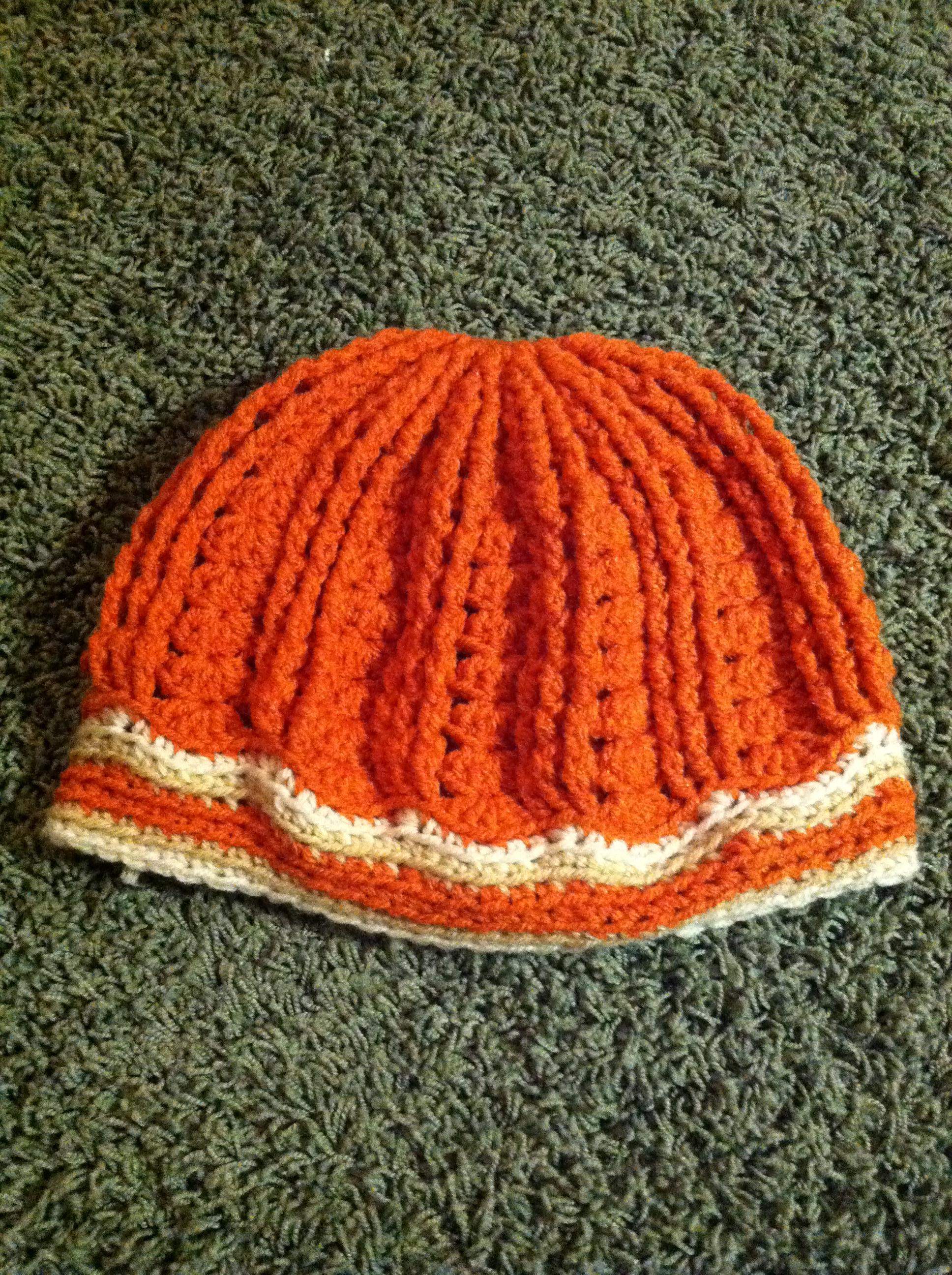 Orange and Cream Hat