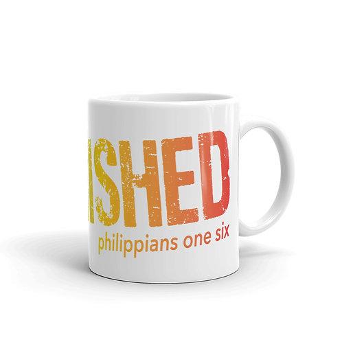 Unfinished   White glossy mug