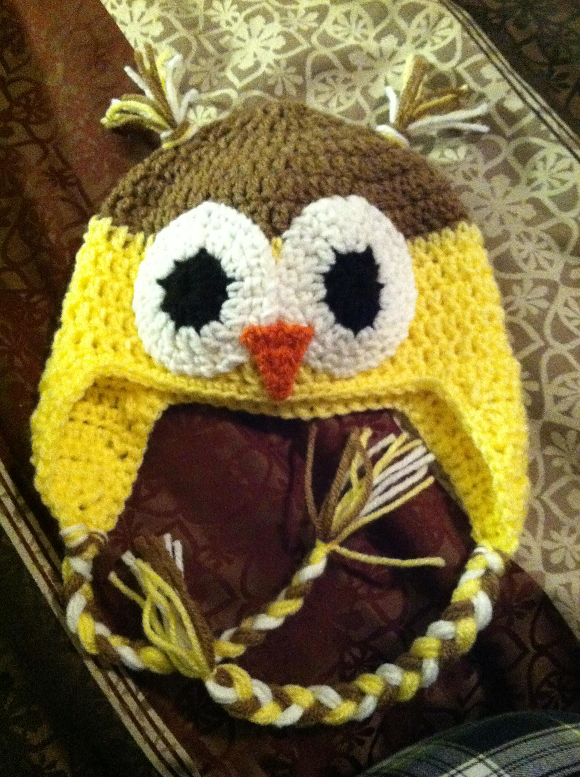 Yellow Owl Hat